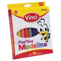 Artículos Escolares - Vinci Set de Plastilina - 10 unidades