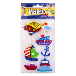 Artículos Escolares - Merletto Figuras de Foamy Adhesivas - Transporte Marítimo