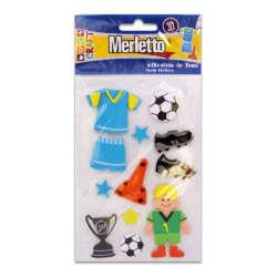 Artículos Escolares - Merletto Figuras de Foamy Adhesivas - Fútbol