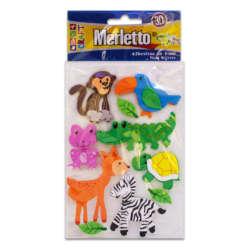 Artículos Escolares - Merletto Figuras de Foamy Adhesivas - Animales Zoológico