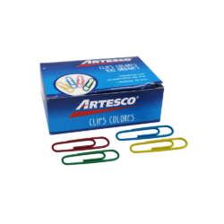 Artículos de Oficina - Artesco Clips Colores 33 mm - 100 unidades