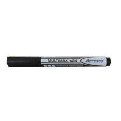 Artículos Escolares y de Oficina - Artesco Marcador Permanente Multimax A24 - Negro