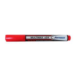Artículos Escolares y de Oficina - Artesco Marcador Permanente Multimax A24 - Rojo