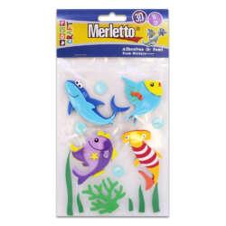 Artículos Escolares - Merletto Figuras de Foamy Adhesivas - Tiburones