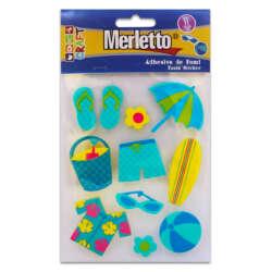 Artículos Escolares - Merletto Figuras de Foamy Adhesivas 3D - Playa/Niño
