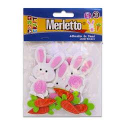 Artículos Escolares - Merletto Figuras de Foamy - Conejos