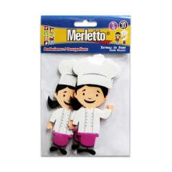 Artículos Escolares - Merletto Set de 3 Figuras de Foamy - Chef