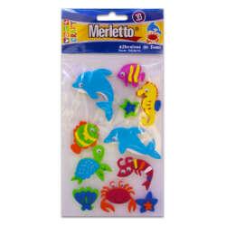 Artículos Escolares - Merletto Figuras de Foamy Adhesivas - Animales Marinos