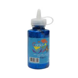 Artículos Escolares y Arte - Conki Goma Escarchada 53 ml - Azul